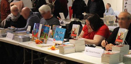 L'illustratrice Cloé Perrotin au Salon du Livre de Vierzon lors de l'édition 2017