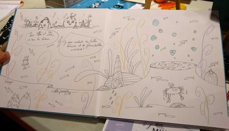 Dédicace de l'illustratrice Cloé Perrotin du livre Faribole et Mistigri paru chez YIL Edition au Salon du Livre de Vierzon 2017