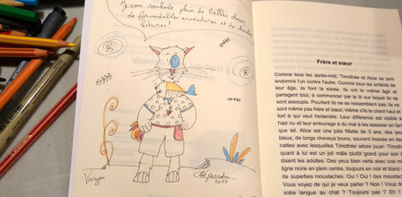 Dédicace de Cloé Perrotin du livre Le chat qui veut devenir un petit garçon paru chez Benjulice Editions au Salon du Livre de Vierzon 2017