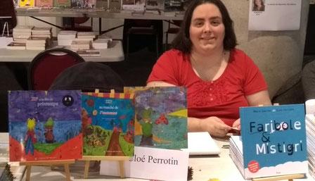 Le stand de l'illustratrice Cloé Perrotin au Salon du Livre de Vierzon en 2017