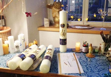 Muttergottes Kerzen Produktion