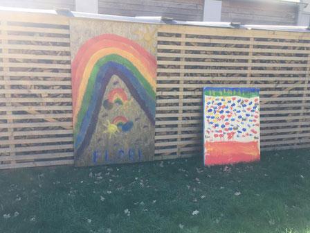 Eine Grundschülerin aus Sundern zeigt, dass der Kreativität bei dieser Aktion keine Grenzen gesetzt sind...