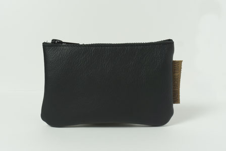 recycled leather wallet brown