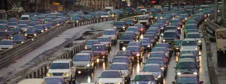 Kyiv traffic jam