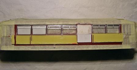 Fenster - Teilung geändert - zur Probe aussen aufgelegt