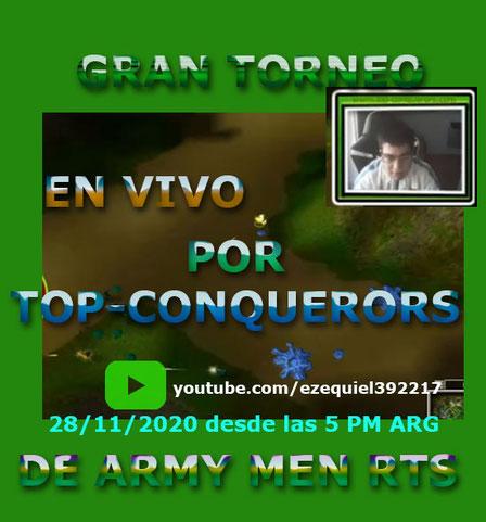 Tercer torneo de Army Men RTS organizado por la microempresa Top-Conquerors