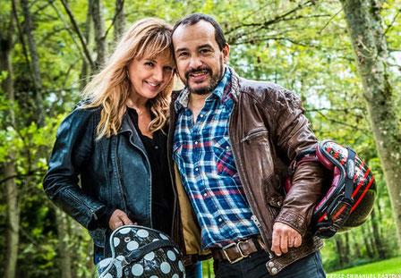 Mehdi el Glaoui (fils de Cécile Aubry) et sa femme Virginie Stevenoot en décembre 2013