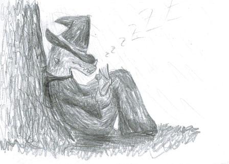 Ein eingeschlafener Lukukian Kalulukia.