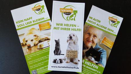 Flyer der Tiertafel RheinErft e.V., Foto: Oetken