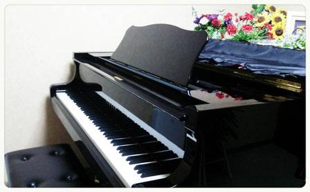 レッスン室グランドピアノ