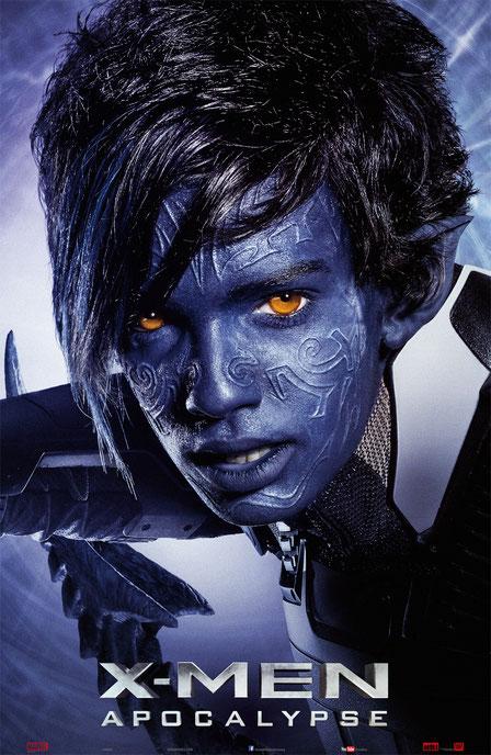 X-Men Apocalypse Charaktere - Kurt Wagner - Nightcrawler - 20th Century Fox - kulturmaterial