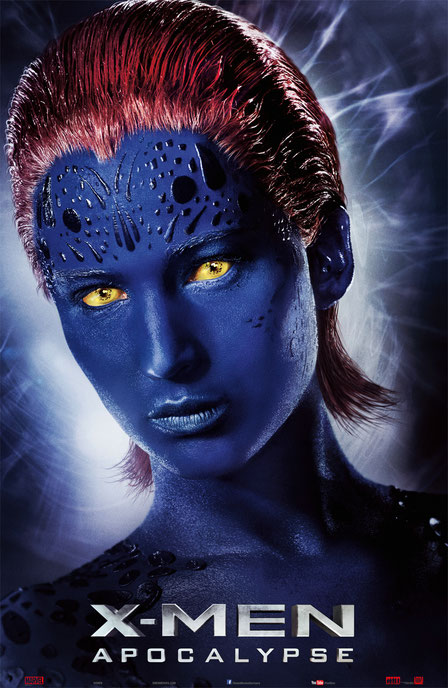 X-Men Apocalypse Charaktere - Raven Darkholme - Mystique - 20th Century Fox - kulturmaterial
