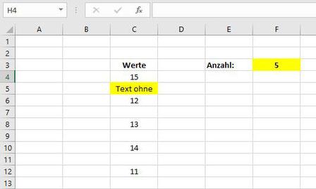 Excel zählen wenn nicht leer