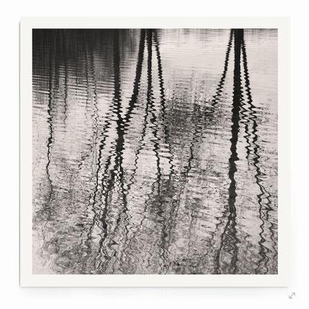"""""""Reflection Downpour"""" Art Print. Minimalistische Fotografie, Reflexionen von Bäumen im Wasser."""