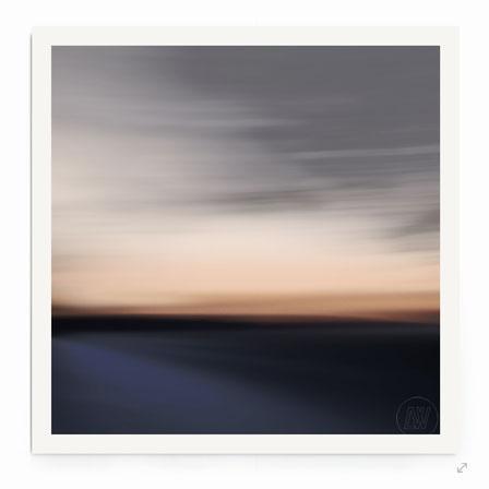 """""""Dreamscape #13"""" Abstrakte See- Landschaft in abendlicher Farbstimmung."""