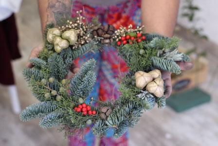 Arbolito decorado con flores de croquet