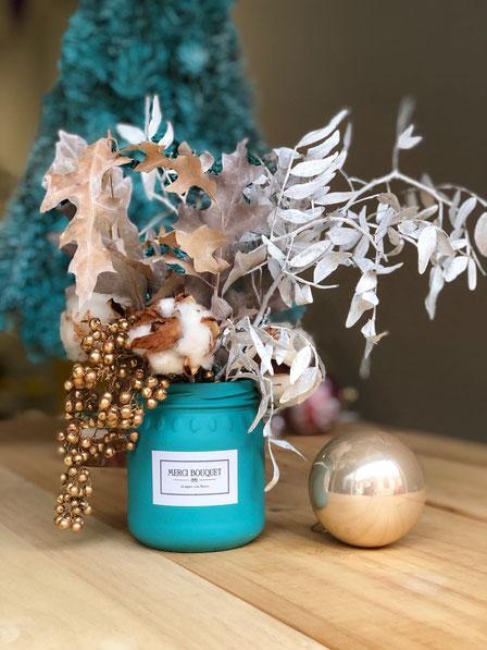 Mini jarrón navideño