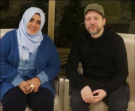 Dr. Ashwaq Moharram und SOS-Yemen-Gründer Mag. Christian Birnker beim Treffen am 22.12.2019 in Kairo
