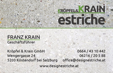 Kröpfel & Krain Estriche