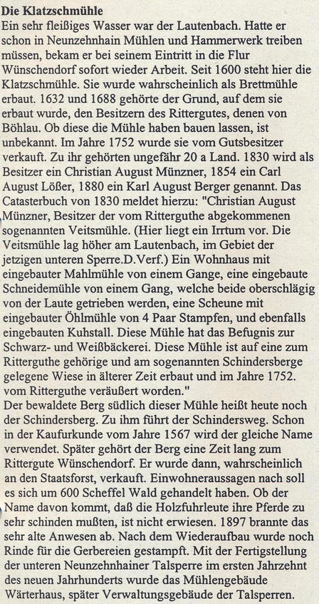 Bild: Teichler Wünschendorf Erzgebirge Klatschmühle Göckeritz