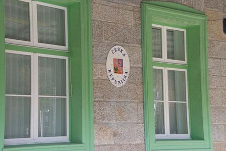 Der Tschechische Teil des Empfangsgebäudes in Bayerisch Eisenstein.