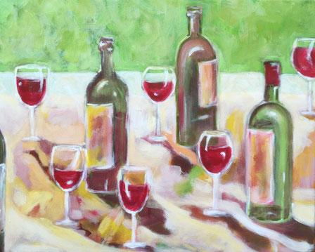 acryl op doek. 40 x 50 cm. Te koop bij Korsman kunsthandel & lijstenmakerij Oegstgeest