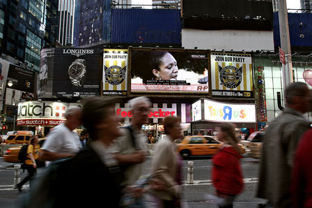 Installation view in Times Square