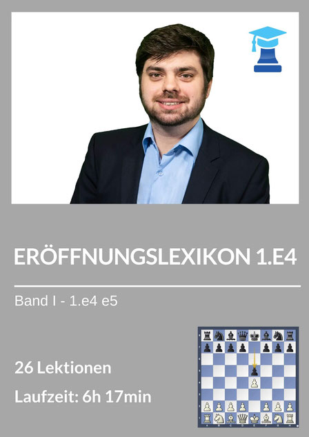 Eröffnungslexikon 1.e4 e5, Produktcover