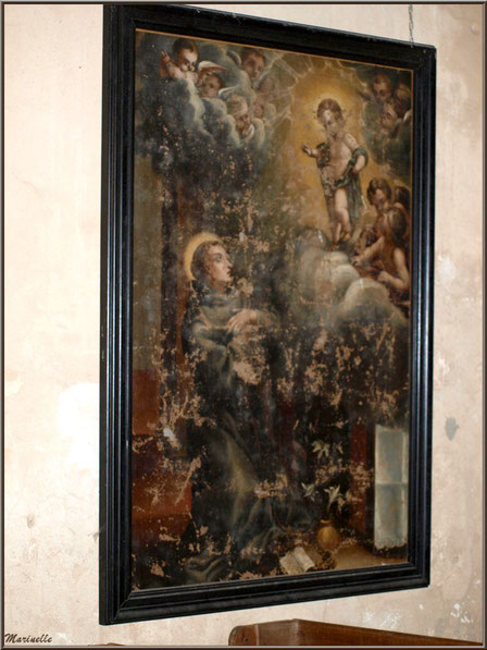 """ableau représentant """"L'Annonciation"""", église Saint Pierre de Mons à Belin-Beliet (Gironde)"""