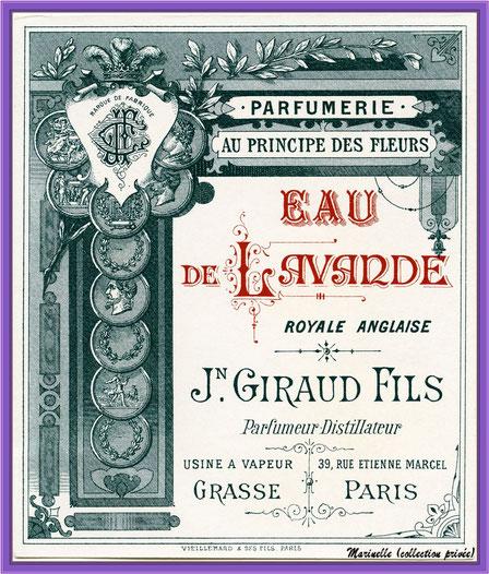 Eau de Lavande, étiquette ancienne (collection privée)