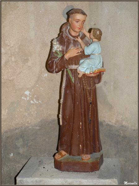 Statue de Saint Joseph à l'enfant Jésus, église Saint Pierre de Mons à Belin-Beliet (Gironde)