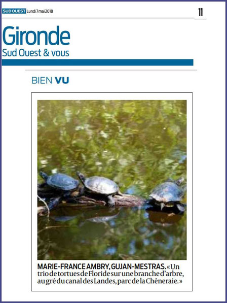 Photo Marinelle sur Journal Sud-Ouest, page Gironde, édition du 07/05/2018