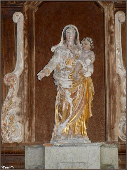 Vierge à l'Enfant de l'autel de la Vierge, église Saint Pierre de Mons à Belin-Beliet (Gironde)