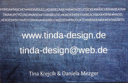 über Uns Tinda Designs Webseite