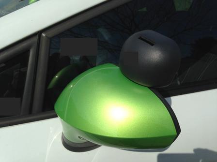 Mini Rückspiegel am Auto......