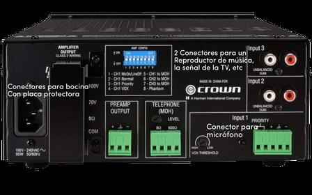 135ma, amplificador para instalaciones, crown