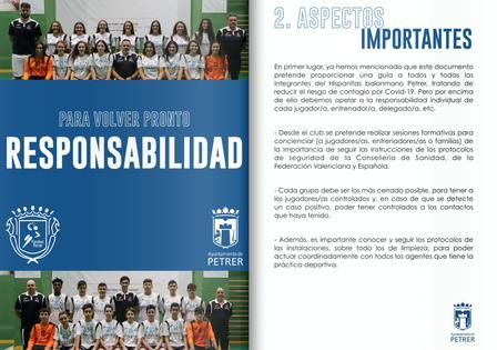 El Hispanitas BM apela a la responsabilidad de todos sus componentes en su protocolo de actuación