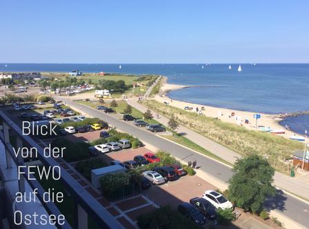 Blick von der Ferienwohnung Heiligenhafen auf die Ostsee