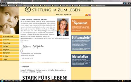 Stiftung Ja Zum Leben