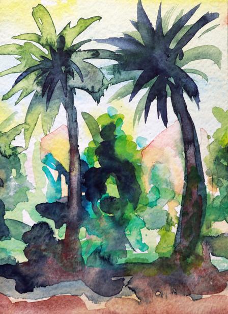 Marie-Thèrese Bugaud Bicha: Palms in Algerien, 1980