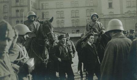 Revolutionære demoer i Schweiz blev som regel opløst af politiet