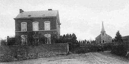 L'Eglise et le presbytaire de Comblain La Tour