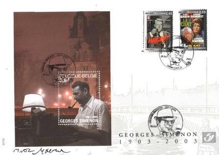 Bloc commémoratif centenaire de la naissance de Simenon