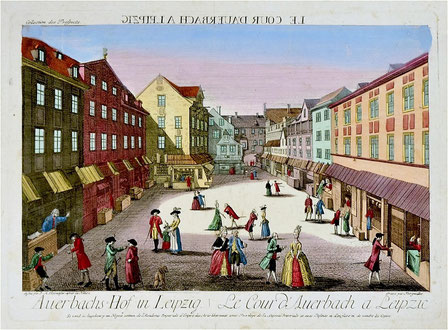 Auerbachs Hof um 1780 Quelle: Wikipedia