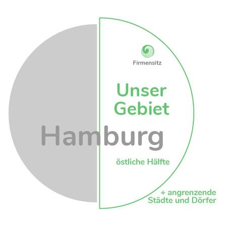 """""""rechter""""Halbkreis"""" incl. nahem Umland von Hamburg"""