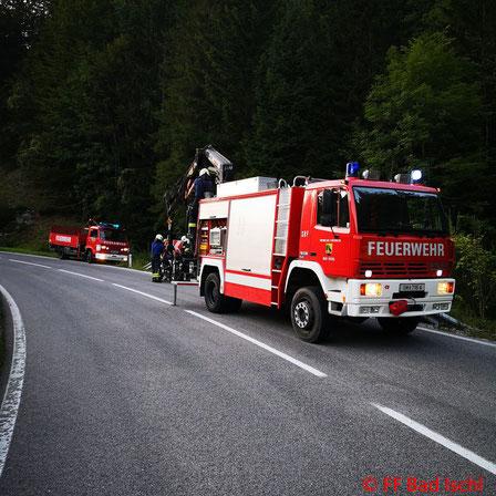 Feuerwehr, Blaulicht, FF Bad Ischl, Motorrad, Bergung, Weißenbachtal