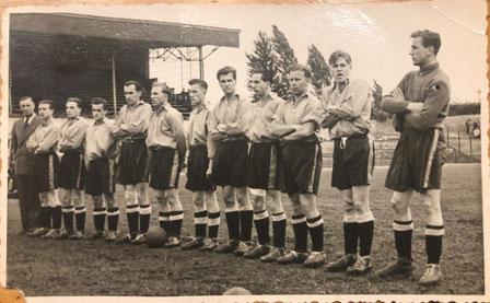 YB Kader 1947/1948 Raimondi, Peney, Monti, Casali I, Stoll, Zehnder, Thommen, Flühmann, Weil, Giacometti, Aeberhard, Eich