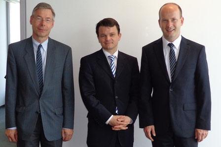 Von links nach rechts: Dr. Klemz, Witte, Busshuven