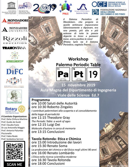 periodic table of elements events, theodore gray periodic table of elements events in palermo Italy