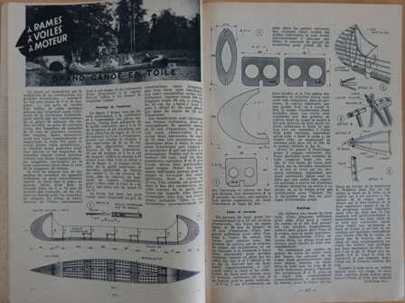 AVENEL, Grand canoë en toile, in revue Système D n° 155, 1958 (la Bibli du Canoe)